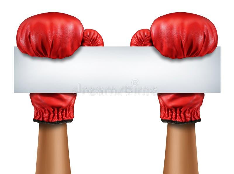 拳击手套空白的标志 皇族释放例证