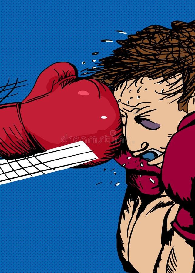 拳击手套职业杀手 向量例证