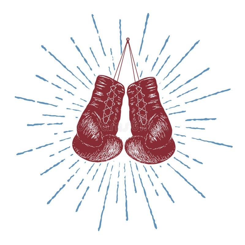 拳击手套 库存例证