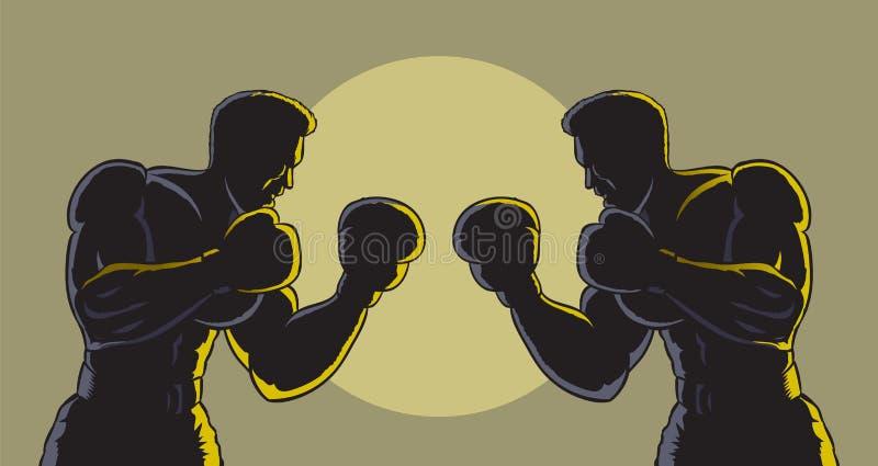 拳击概述 皇族释放例证