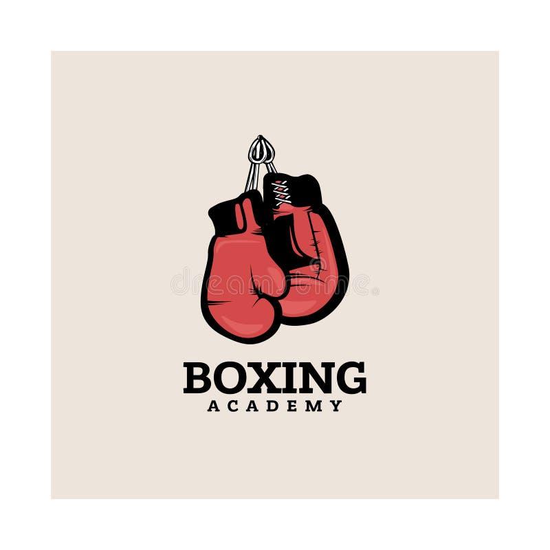 拳击略写法模板 向量例证