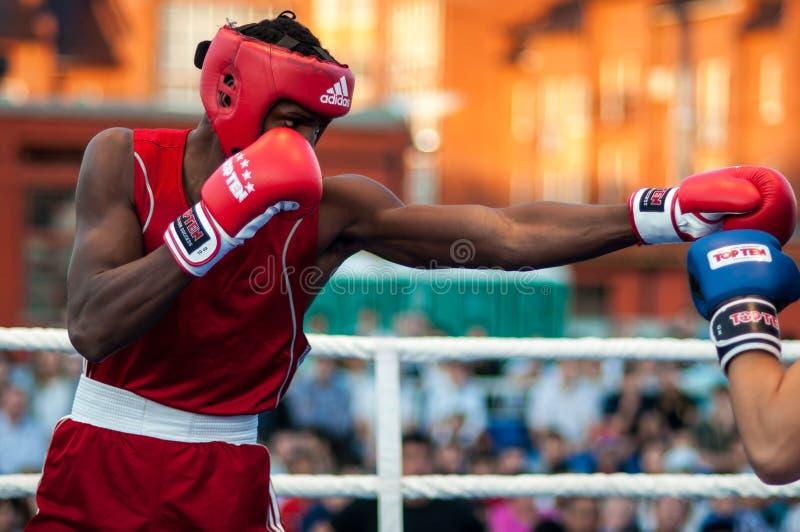 拳击赛 免版税库存图片