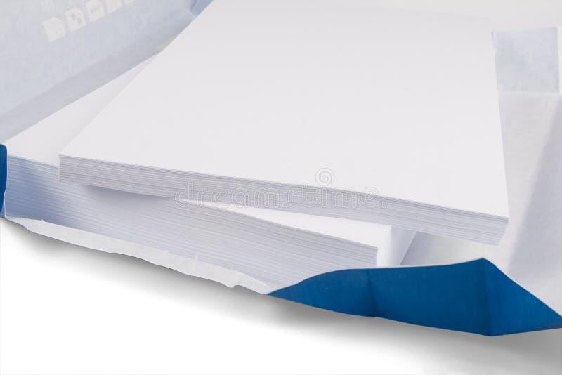 拷贝纸白色 免版税库存照片
