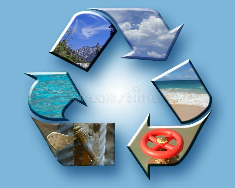拼贴画地球回收 免版税库存照片