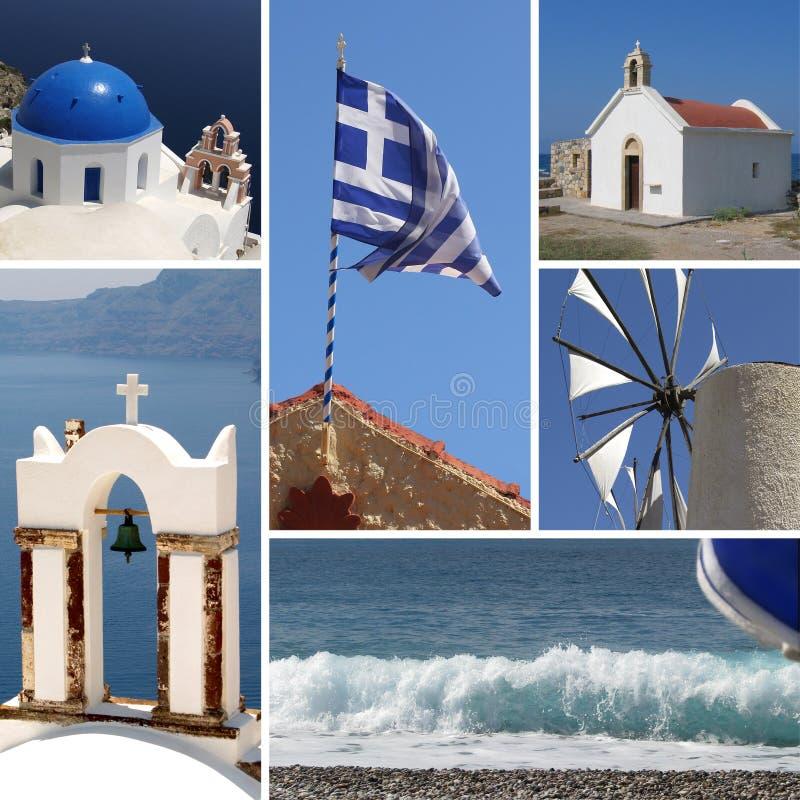 拼贴画希腊 库存图片