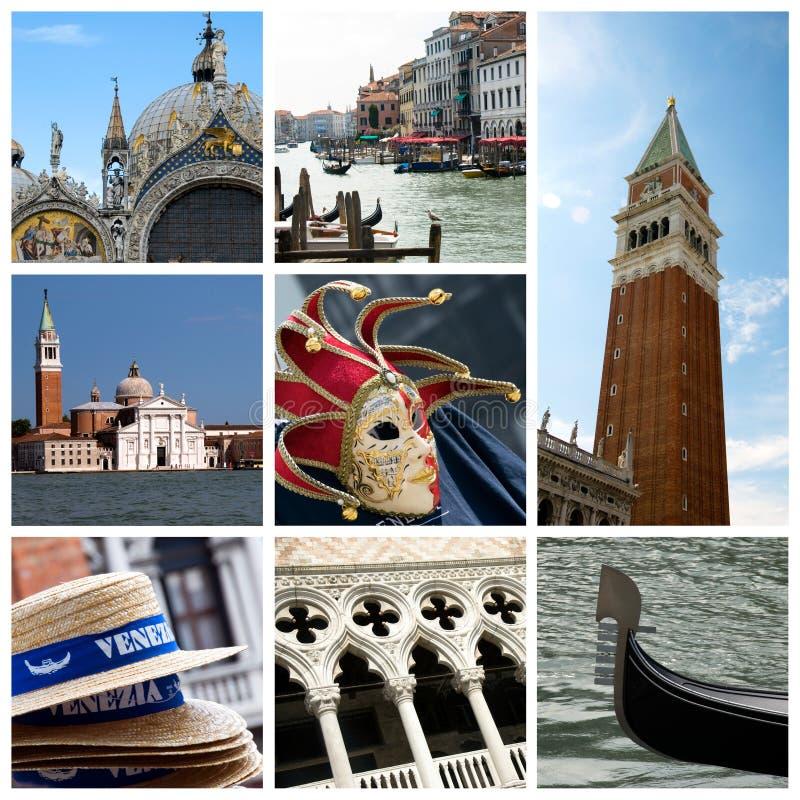 拼贴画意大利威尼斯 免版税图库摄影