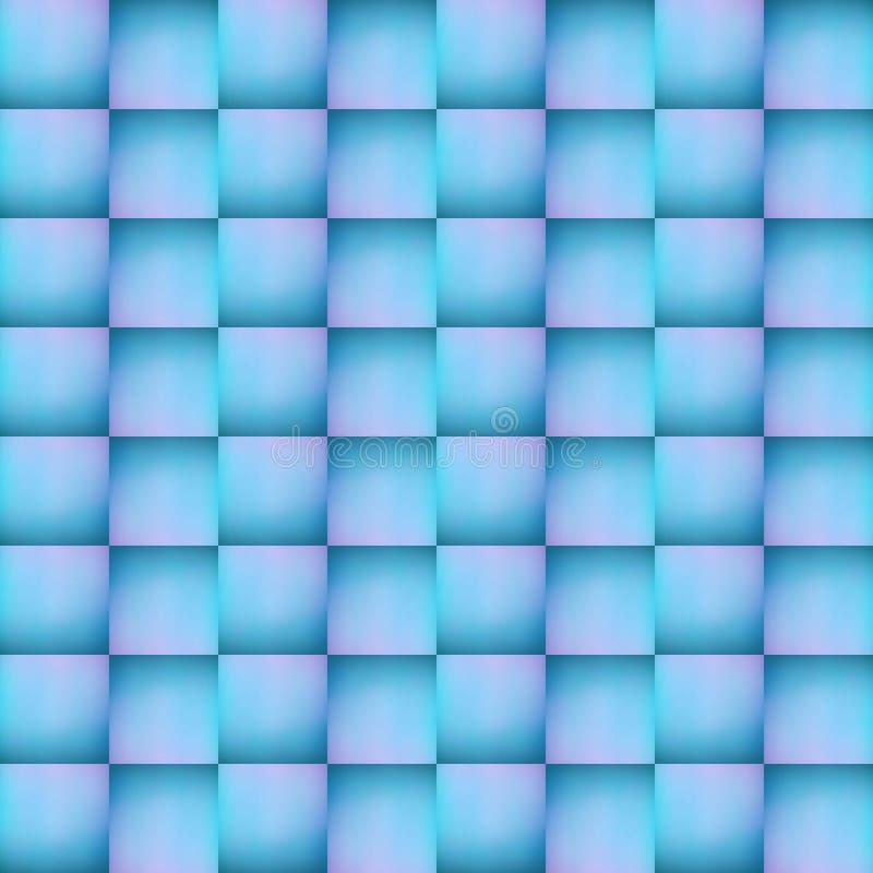 拼贴画抽象设计从一个不透明的玻璃图象的与在蓝色的间接光和粉色、背景和纹理 皇族释放例证