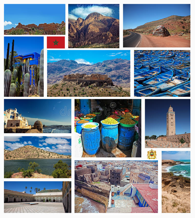 拼贴画摩洛哥照片 库存图片