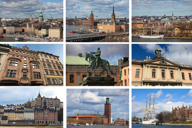 拼贴画斯德哥尔摩 免版税图库摄影