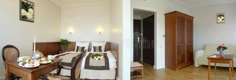 拼贴画旅馆客房套件 免版税库存照片