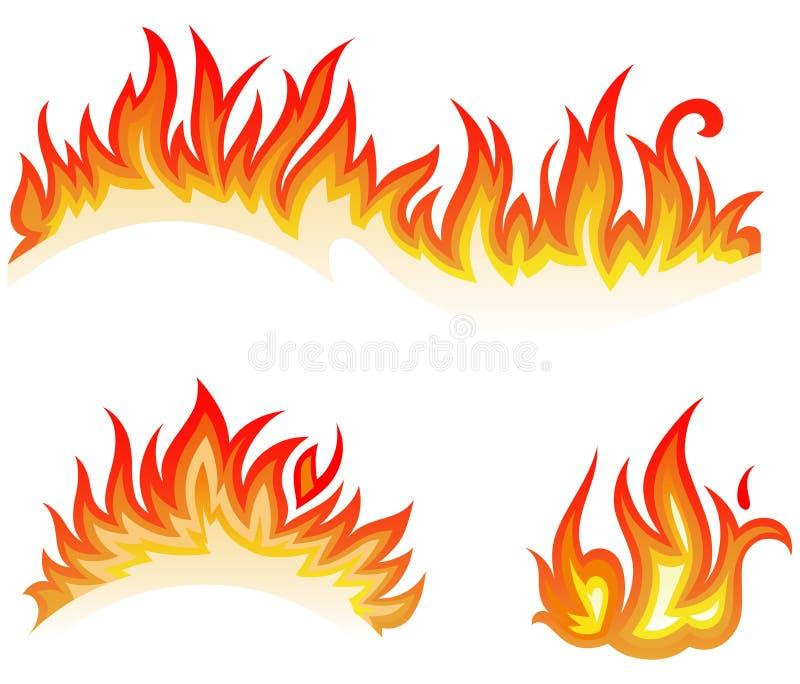 拼贴画火火焰 向量例证