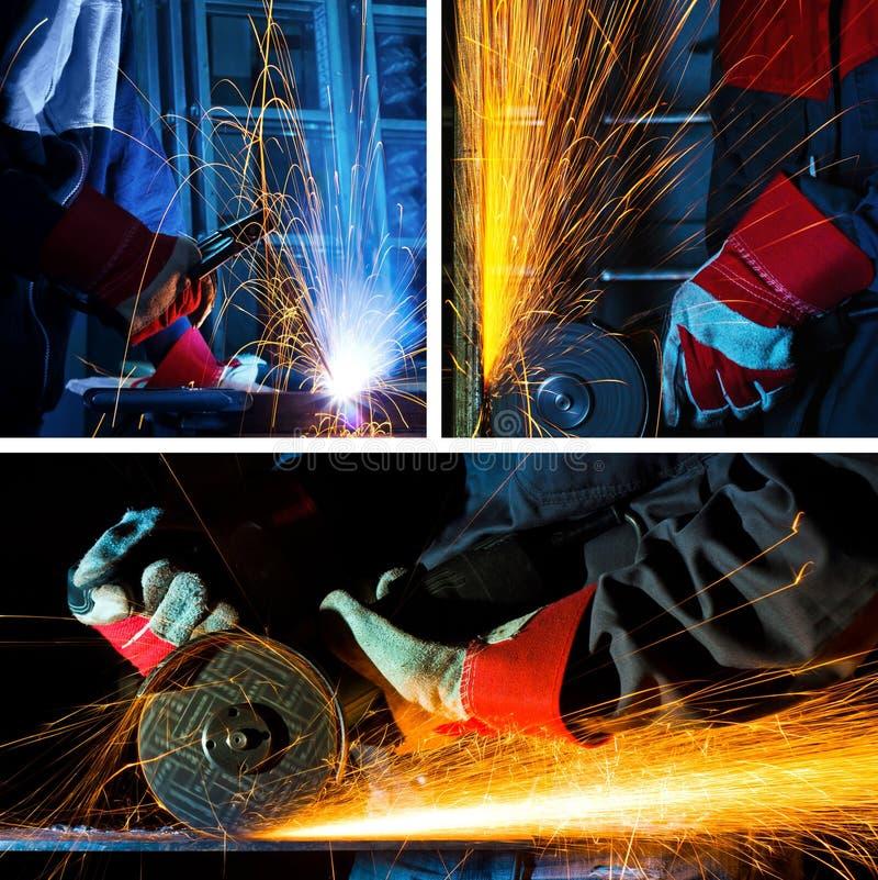 拼贴画研的焊接 图库摄影