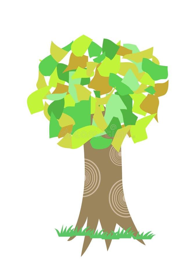 拼贴画结构树 库存例证