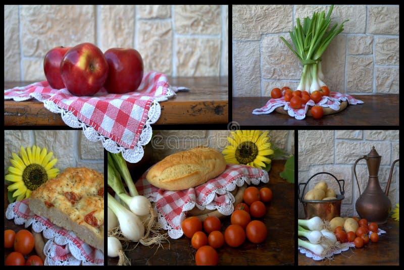 拼贴画食物 库存图片