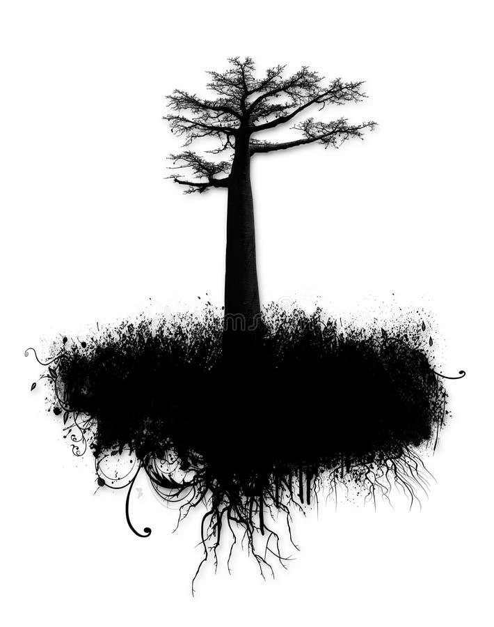 拼贴画grunge结构树 皇族释放例证