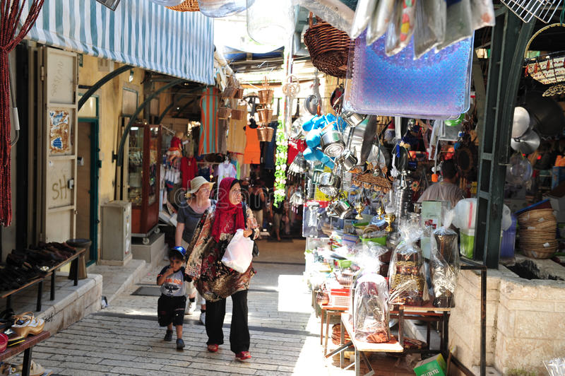 拿撒勒市场-以色列 免版税库存照片