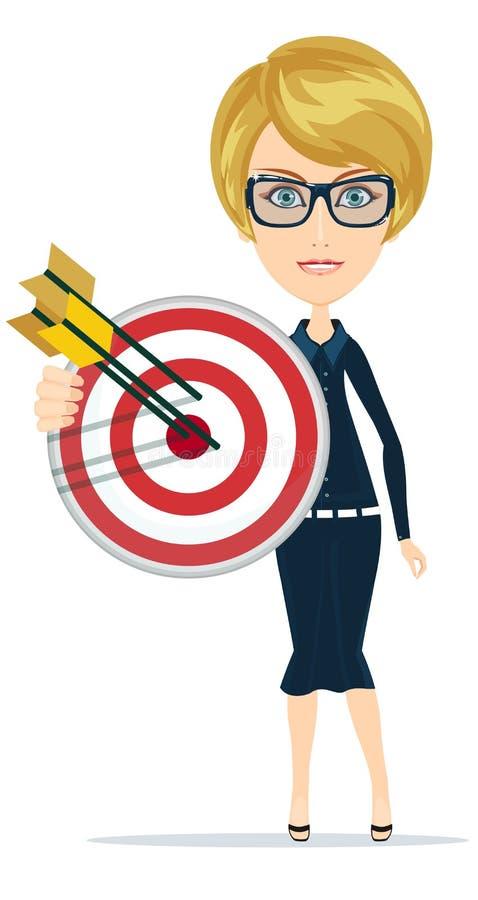 插画 包括有 营销, 生火, 射箭, 命中, 市场, 资源, 目标, 电话会议图片