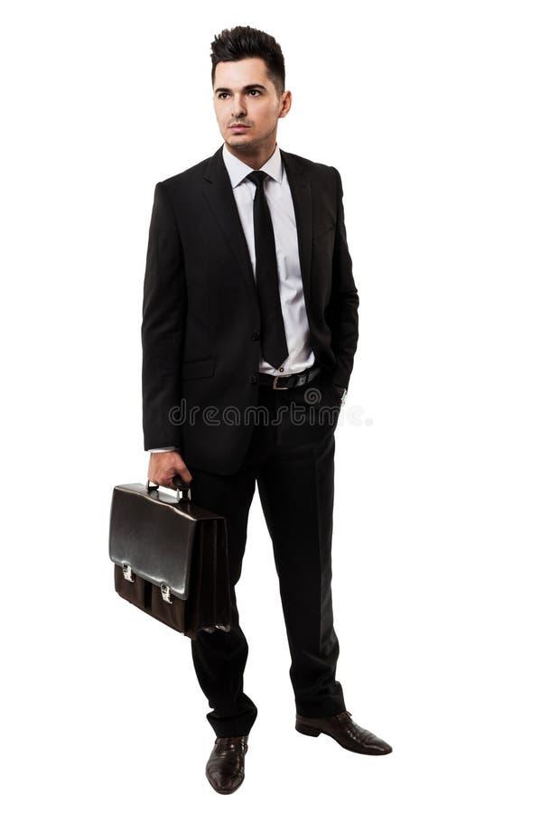 拿着公文包的新生意人 免版税库存图片