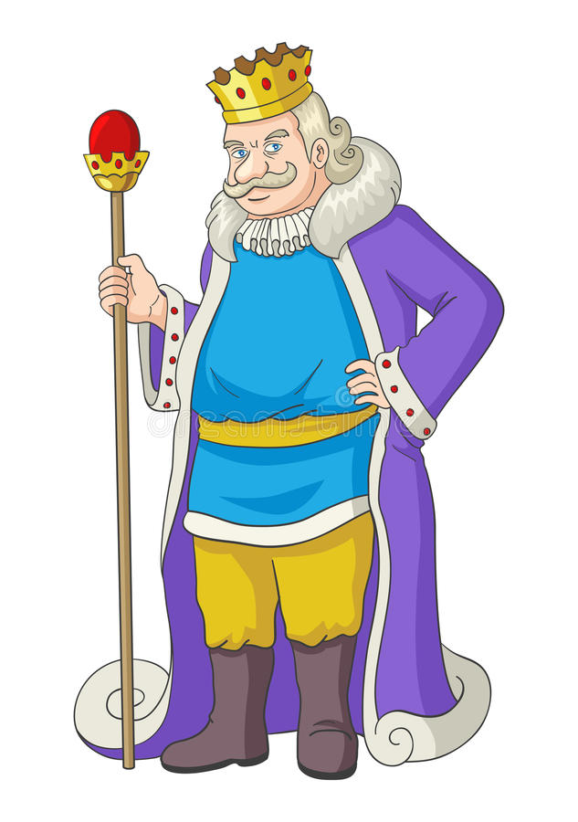 拿着君权的老国王 向量例证