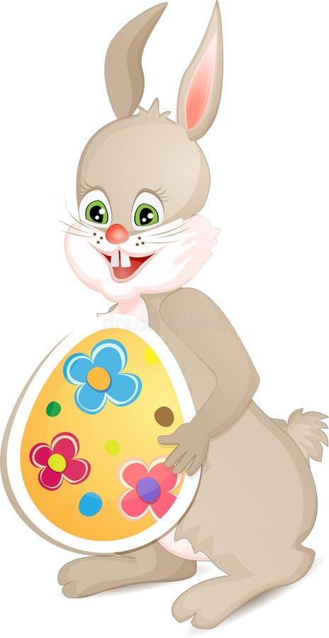 逗人喜爱的复活节兔子 库存例证