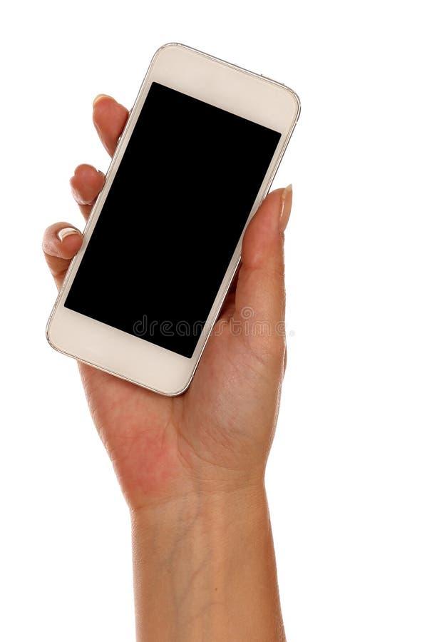 Download 拿着在白色背景的手智能手机 库存例证. 插画 包括有 例证, 射击, 多媒体, 蜂窝电话, 小配件, 片剂 - 59104034