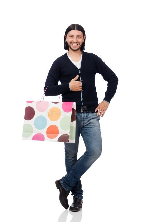 Download 拿着塑料袋的年轻人被隔绝在白色 库存图片. 图片 包括有 购物中心, 白种人, 圣诞节, 塑料, 存在, 纵向 - 72364317