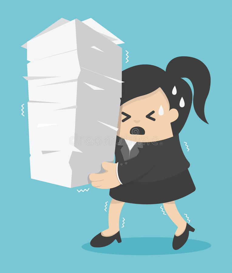 Download 拿着很多文件的女商人 库存图片. 图片 包括有 商业, beautifuler, 职业, 生意人, 总公司 - 62527921
