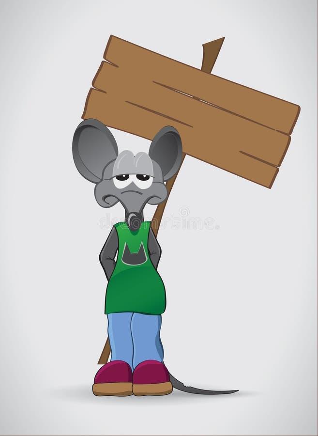 哀伤的鼠 向量例证