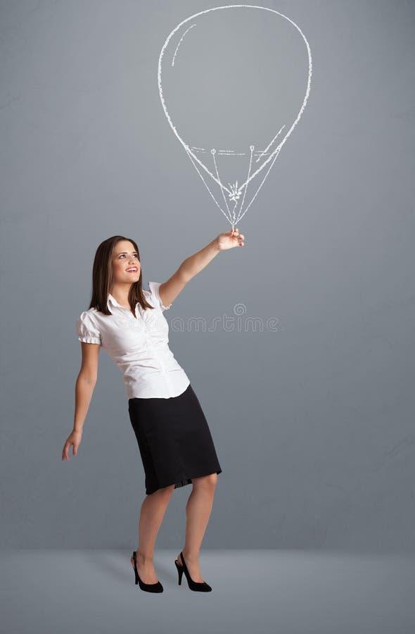 Download 拿着气球图画的美丽的妇女 库存图片. 图片 包括有 现有量, 女孩, 演奏台, 氦气, 图标, beauvoir - 62526841