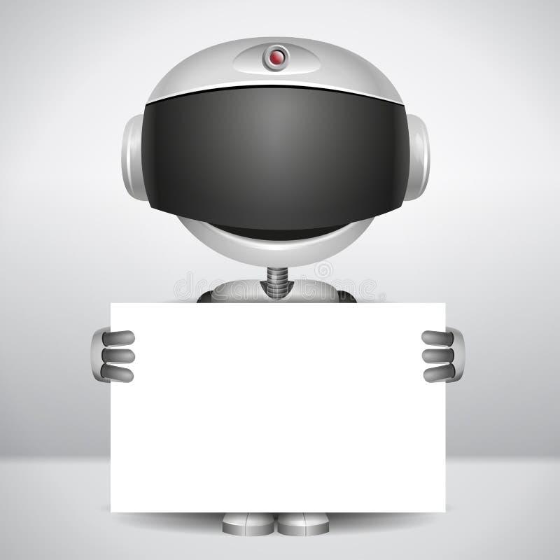 拿着白皮书的机器人 向量例证