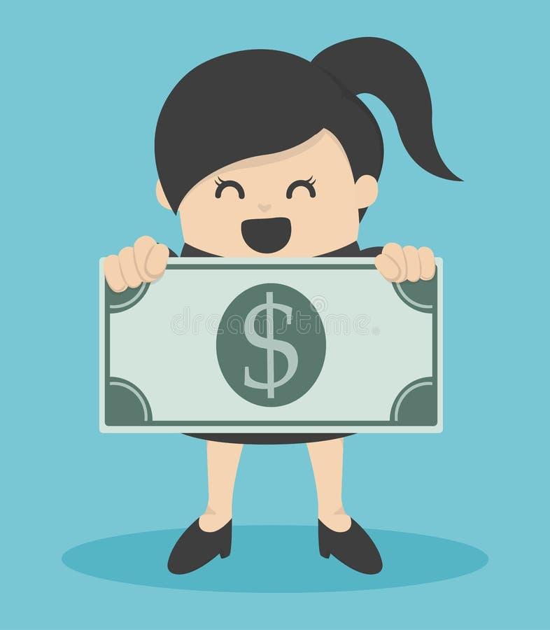 Download 拿着货币的女商人 库存照片. 图片 包括有 美元, 货币, 商业, 人们, 一百, 女性, 广告牌, 财富 - 62528158