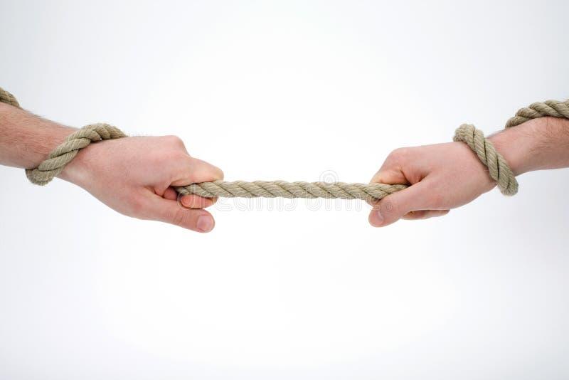 拿着绳索 免版税图库摄影