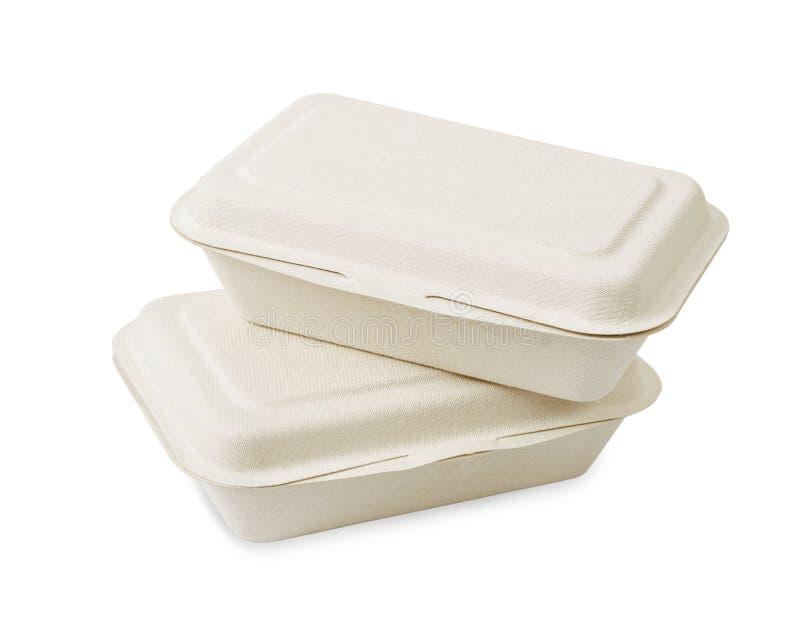 拿走食物箱子由纸制成 库存照片