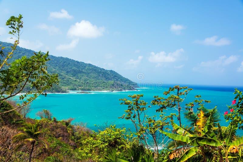 巴拿马海岸视图 库存照片