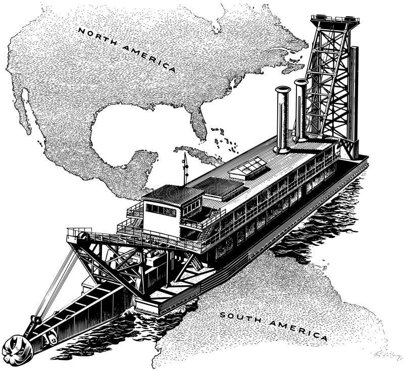巴拿马运河门 皇族释放例证