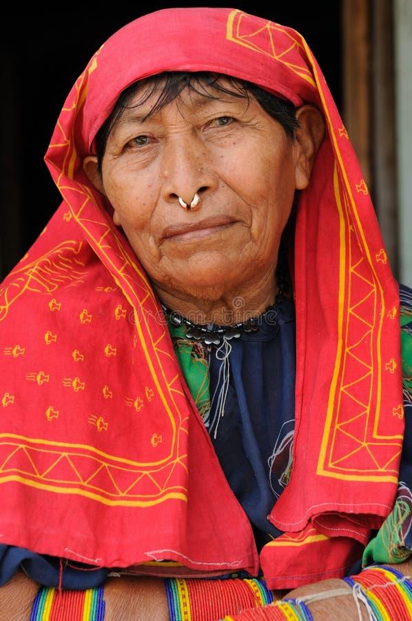 巴拿马,传统Kuna人民 免版税库存图片