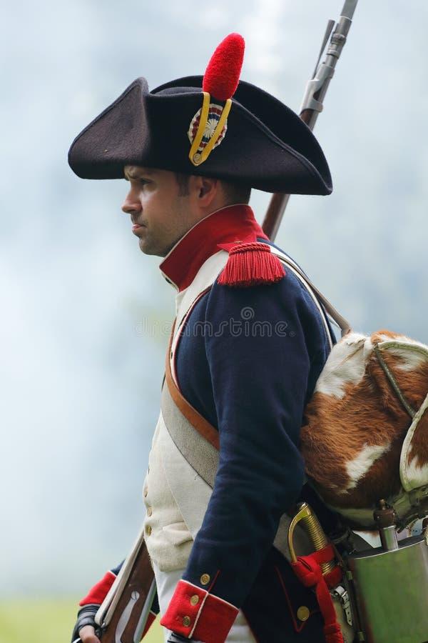 拿破仑似的战士 库存照片