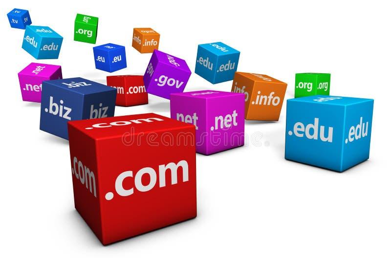 主持域名的网互联网 向量例证