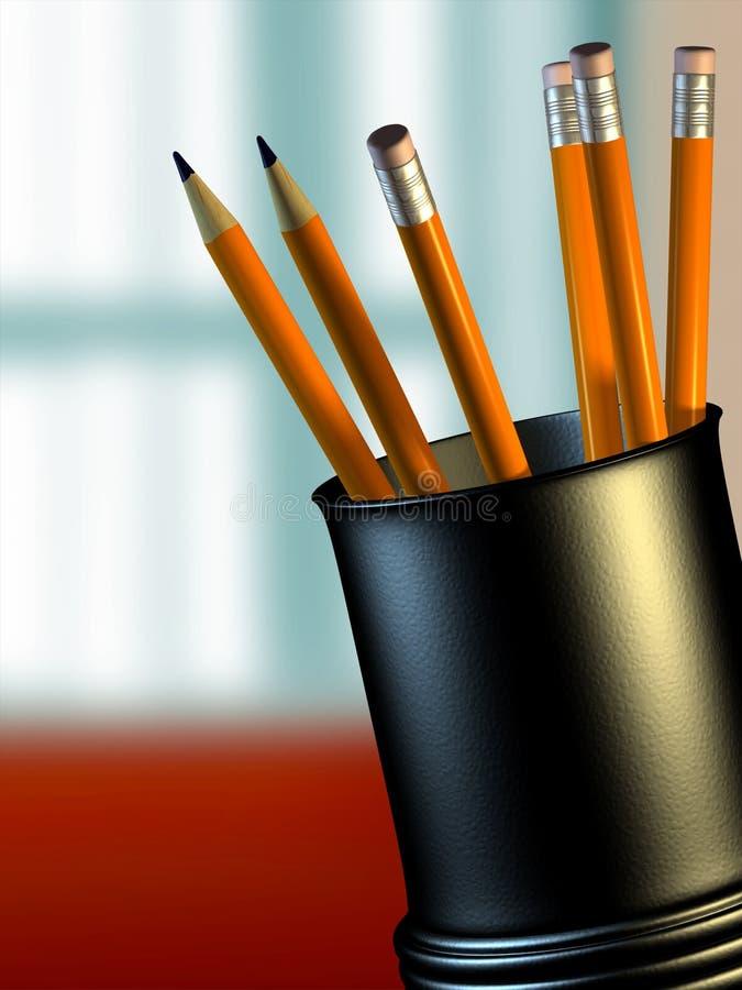 持有人铅笔 皇族释放例证