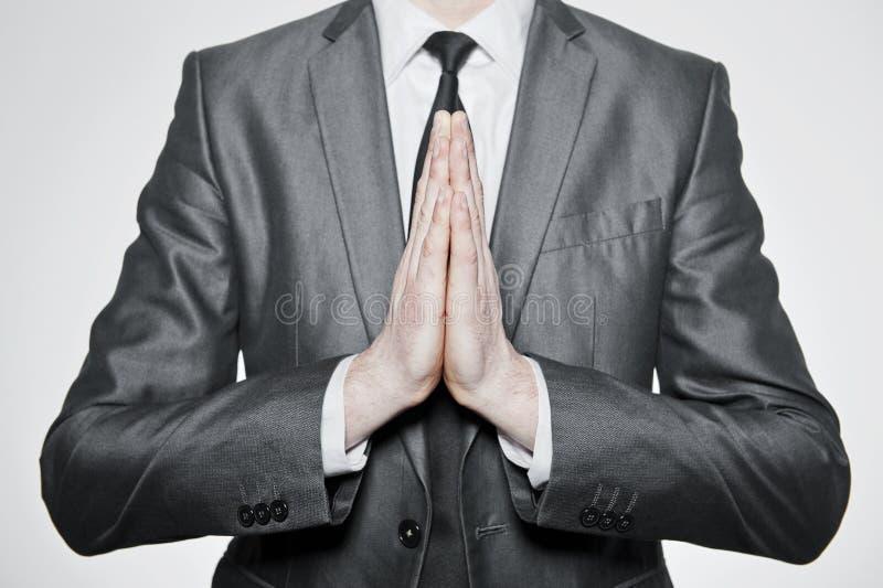 持续的手祈祷 免版税库存照片