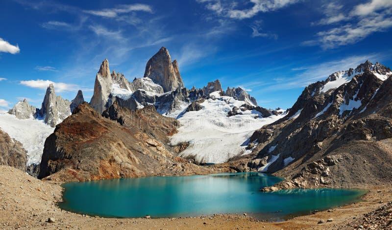 挂接Fitz Roy,巴塔哥尼亚,阿根廷 免版税库存图片