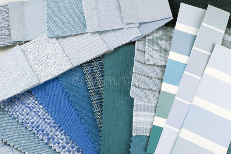挂毯和室内装饰品颜色选择 免版税图库摄影