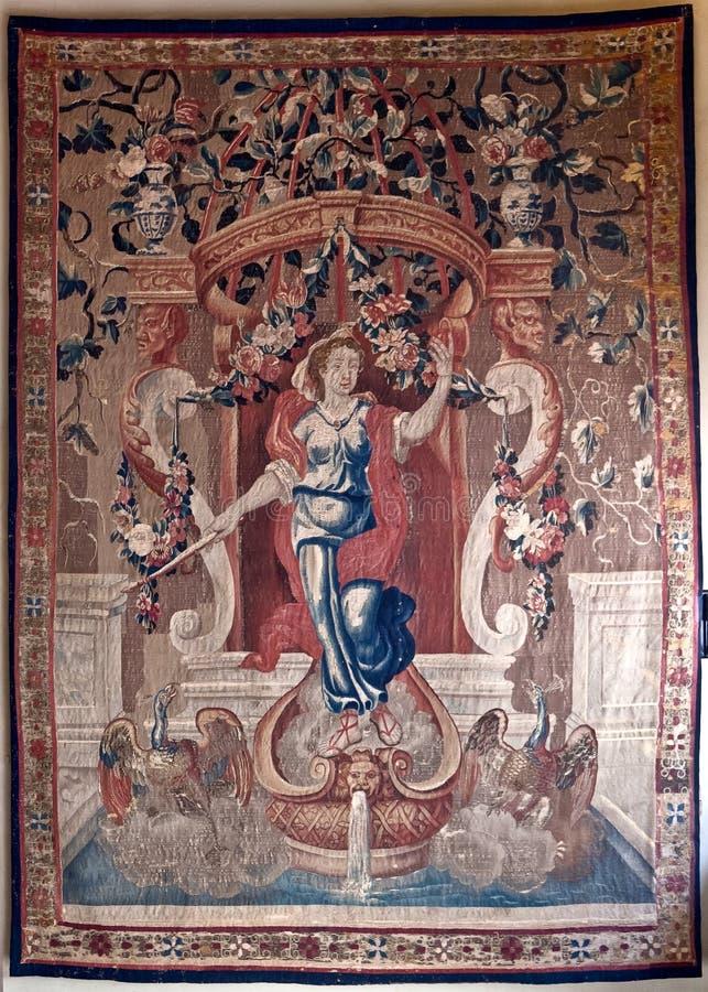 挂毯妇女swane,加州doro,威尼斯,意大利 库存图片