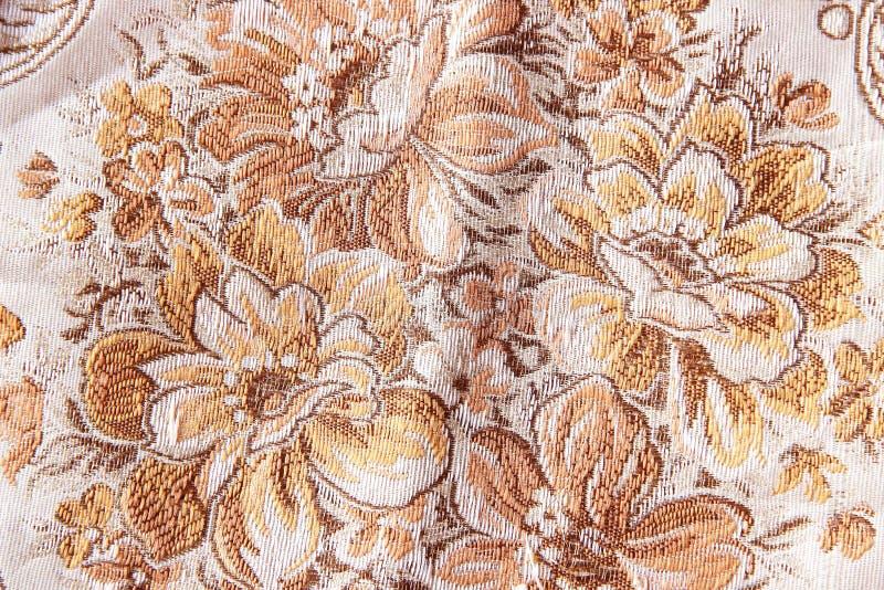 挂毯葡萄酒样式开花织品样式 免版税库存图片