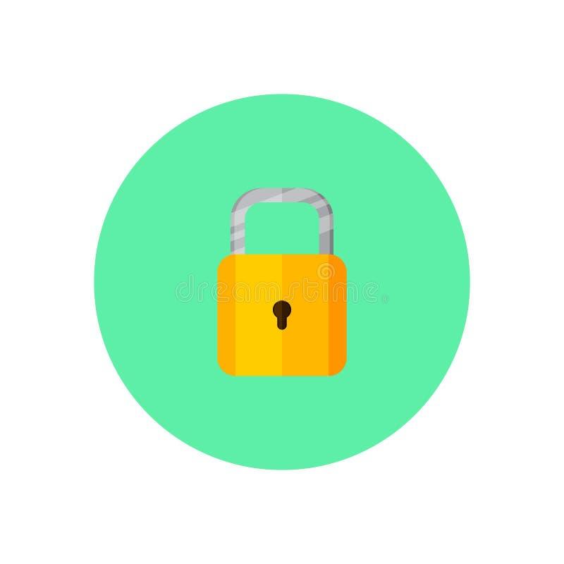 挂锁传染媒介概念 库存例证