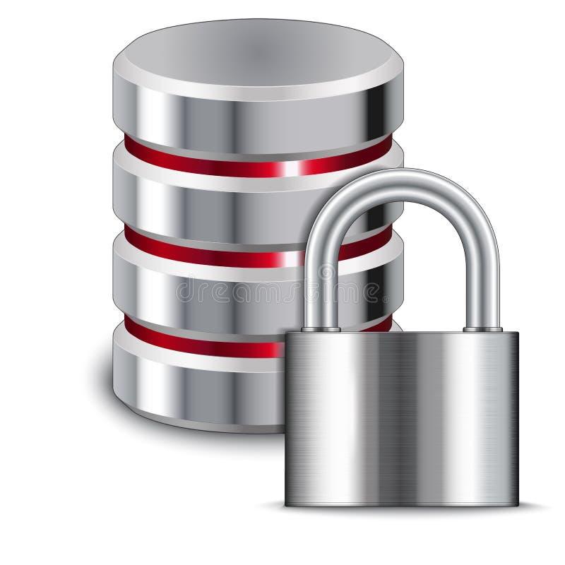 挂锁保护数据库 向量例证