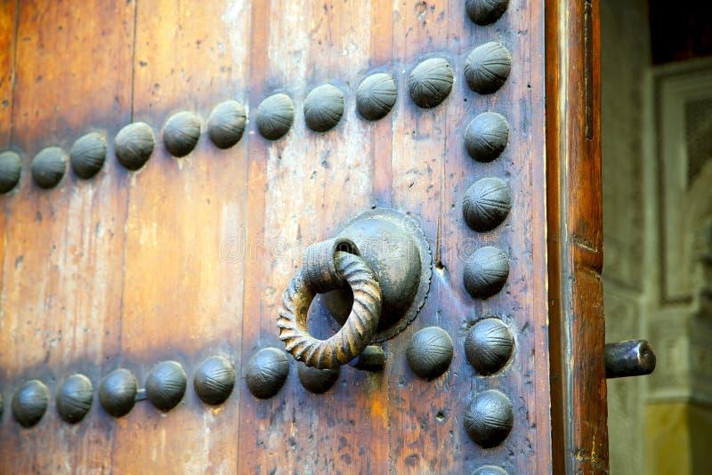 挂锁的棕色摩洛哥 免版税库存图片