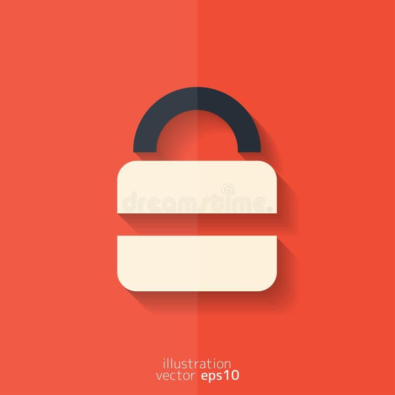 挂锁网象 平的设计 皇族释放例证