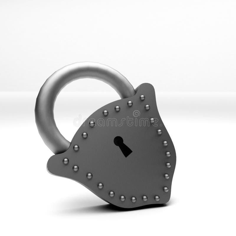 挂锁3D 免版税库存照片