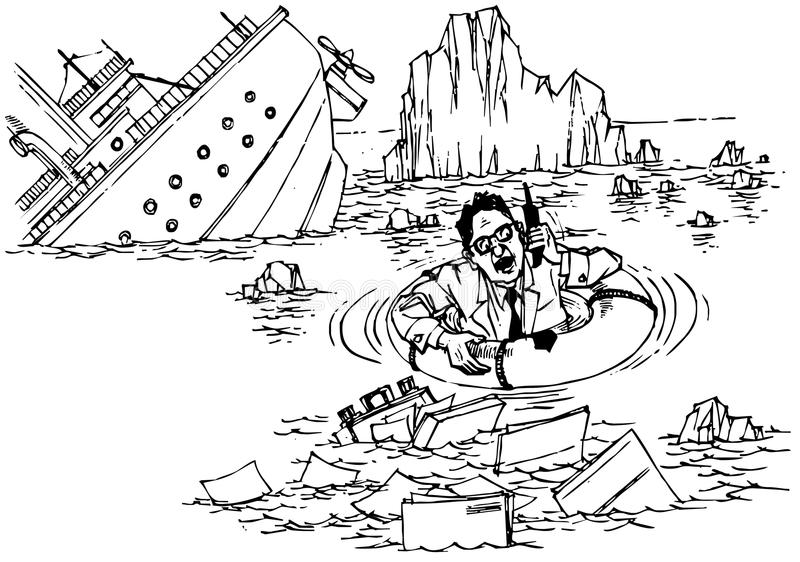 指令海运海难 库存例证